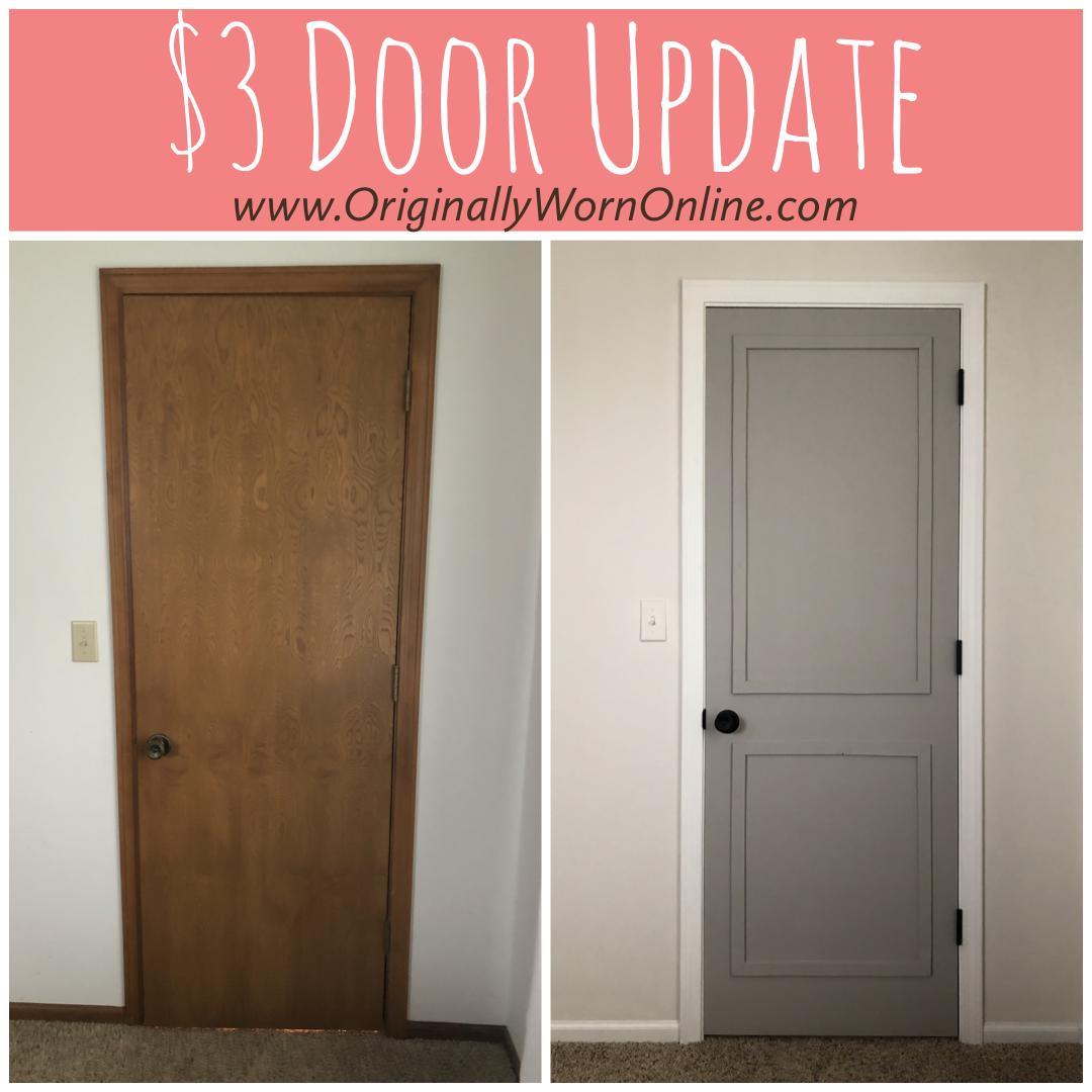 How To Update A Hollow Core Door For $3! | Hollow Core Doors, Diy Interior Doors, Door Makeover Diy