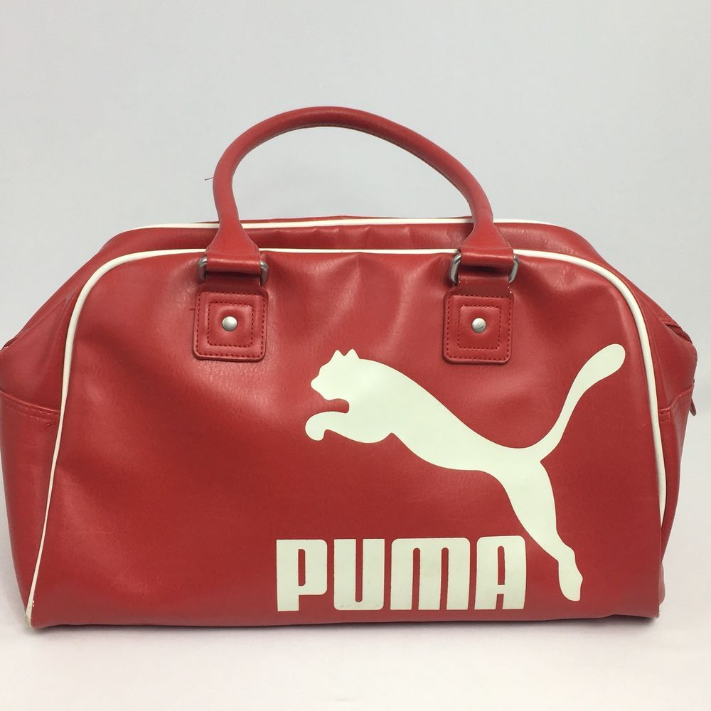 7bb8509e57 PUMA Athletic Red Sports Bag Gym Vintage Tote Double Handle  PUMA  Tote