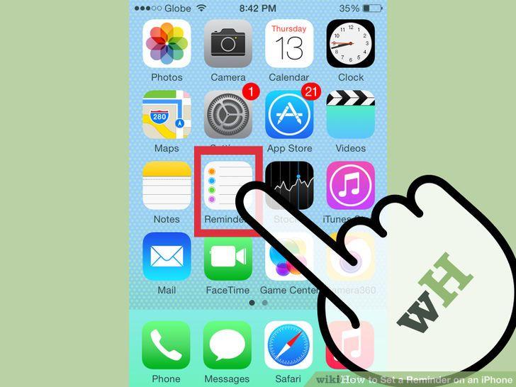 Set a Reminder on an iPhone Iphone, Ipad hacks, Set a