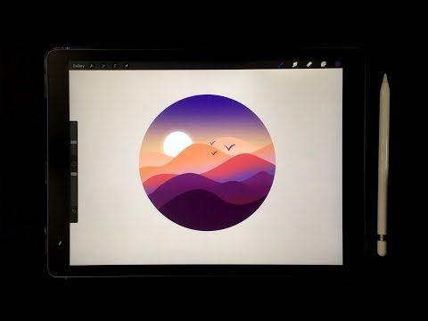 【iPad画画】Procreate iPad Drawing ✍️ How to Draw Land