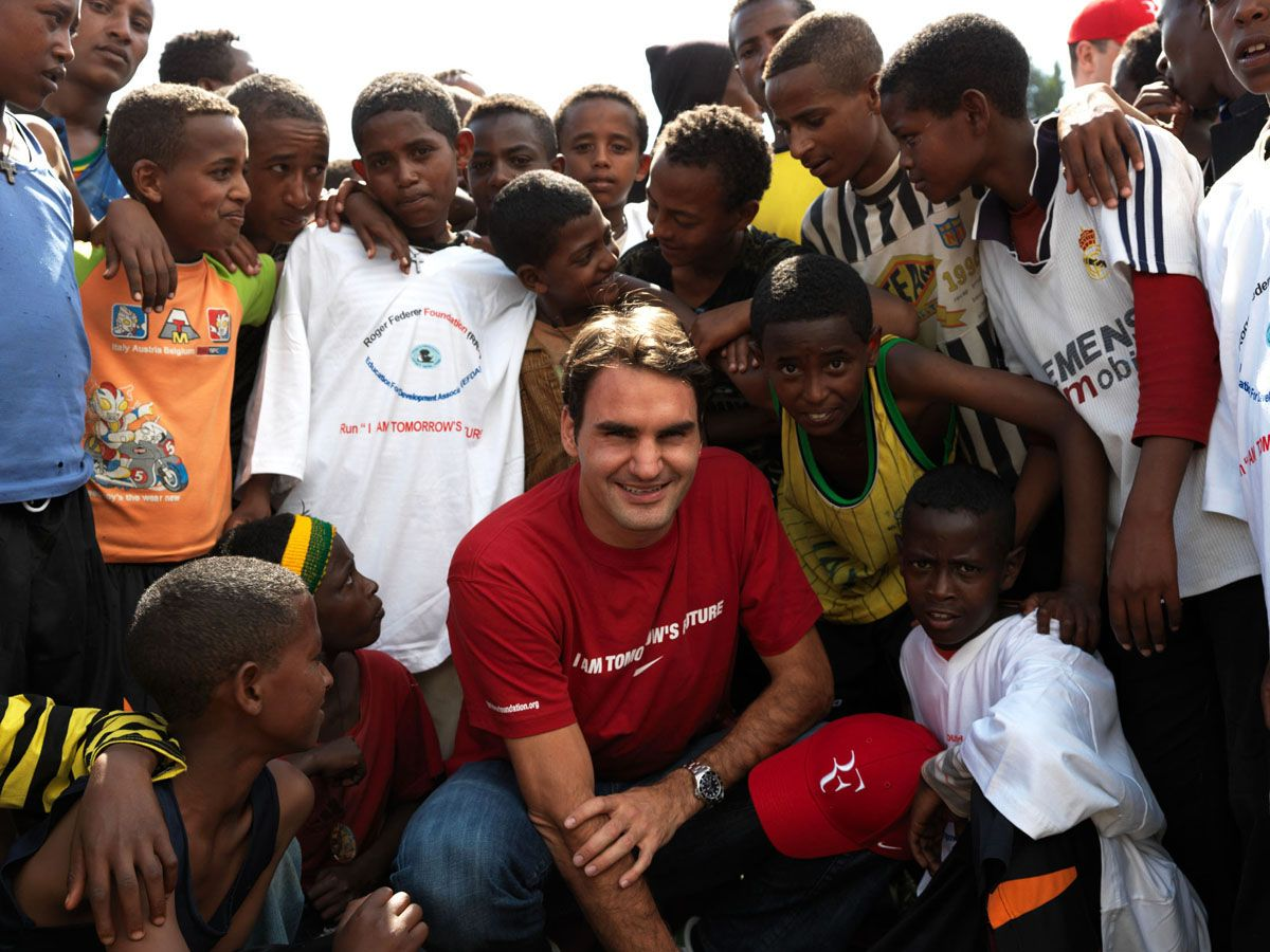 Federer's Humanitarian Work. Find out more at www