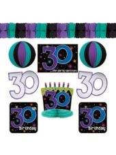 The Party Continues 30th Birthday Decorating Kit 9pc Decorations Supplies Adult