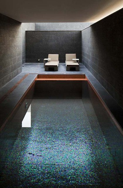 Swimming Pool Interior Impressions Pinterest Schwimmen - Spa Und Wellness Zentren Kreative Architektur