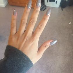 Photo Of Natural Nails Jersey City Nj United States Coffin Shape Natural Nails Jersey City Nails