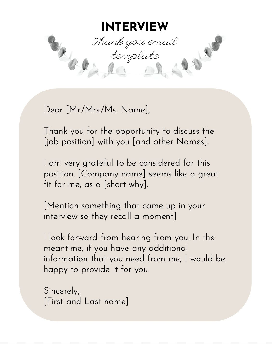 Interview thank you template | Thank you card template ...