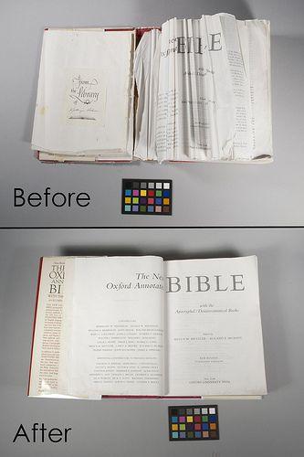 Before And After Of Bible Repair Book Repair Book Making Book Origami