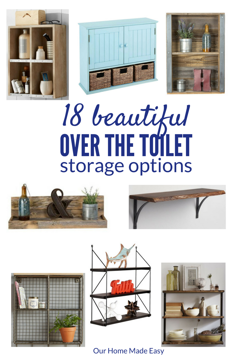 18 Ideas For Small Bathroom Storage! [ORC Week 5. Over Toilet ...