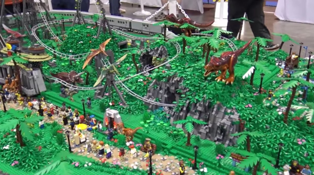 Jurassic Park Lego Roller Coaster Syfywire Theme Parkrides