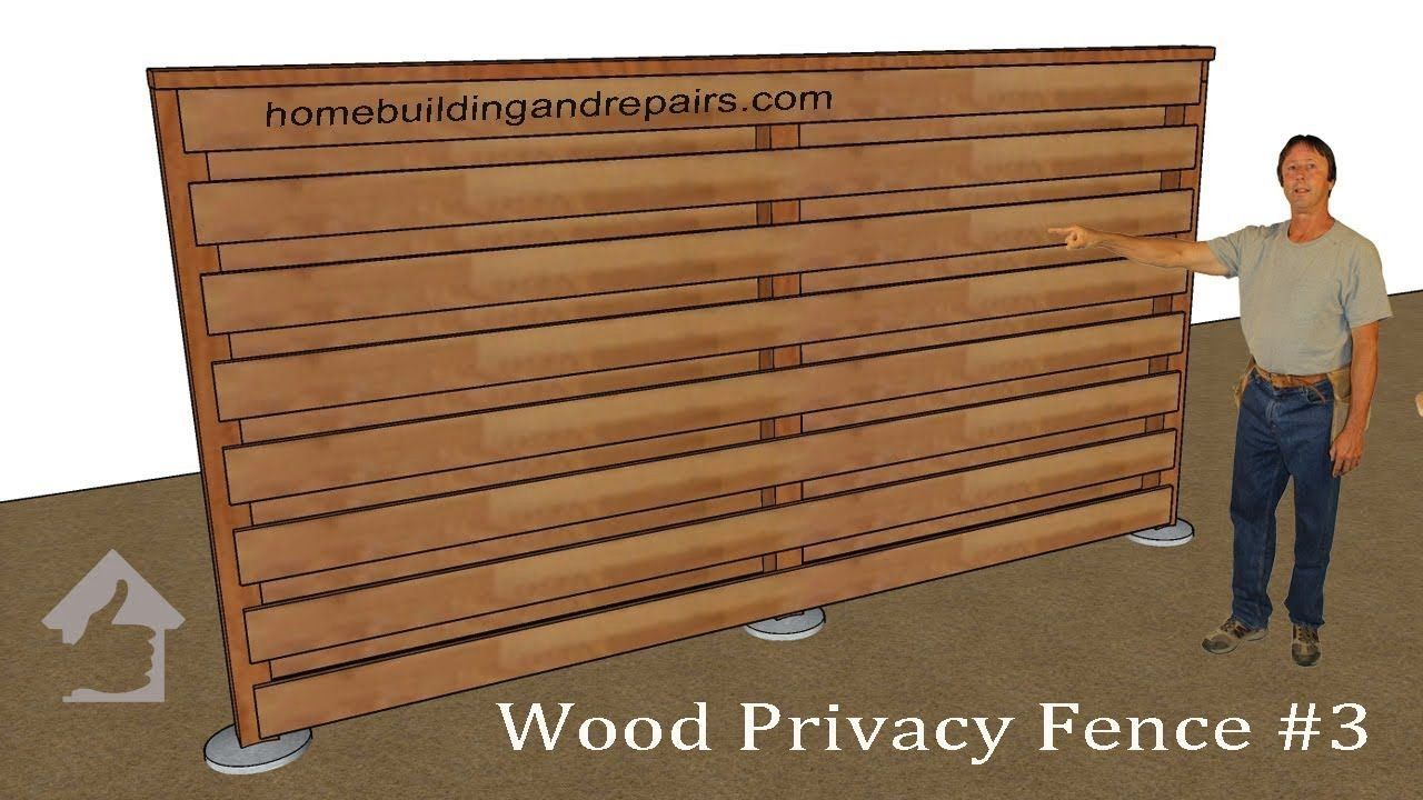 How To Build Horizontal Privacy Wood Fencing With Wind