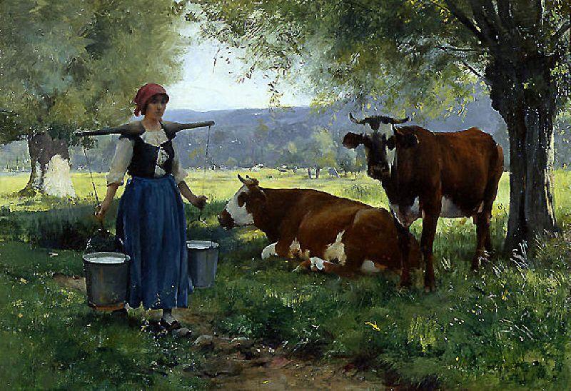 Julien Dupre La Laitiere 1880 1910 Peinture D Animal Comment Peindre Peinture Realiste