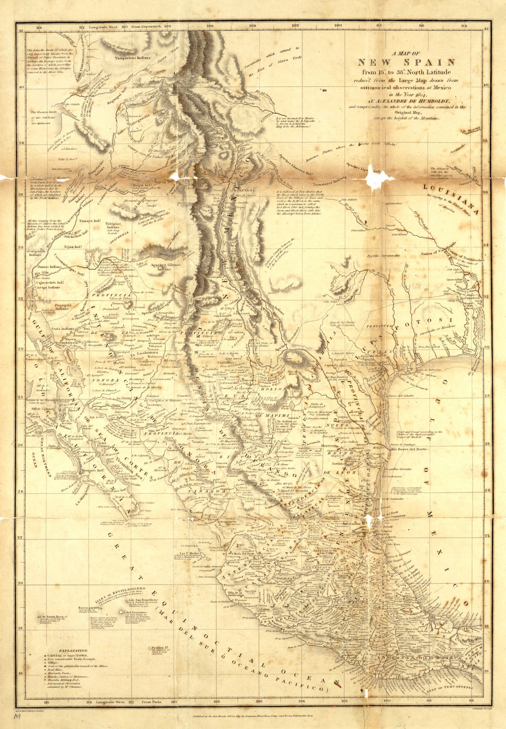 reproduction of 1804 humboldt map