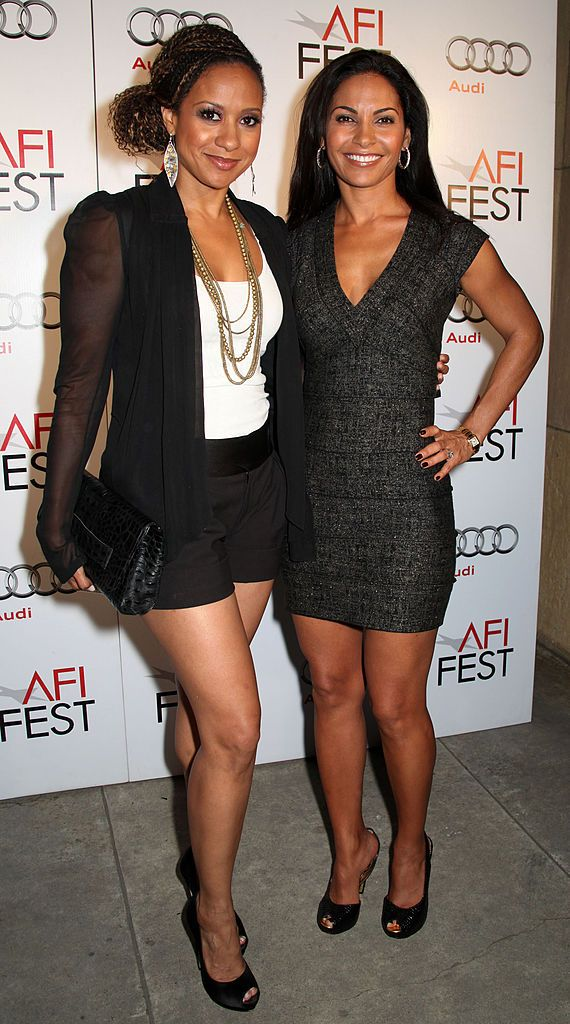 Salli Richardson: Actresses Tracie Thoms and Salli Richardson-Whitfield arrives at AFI...  Actresses Trac...