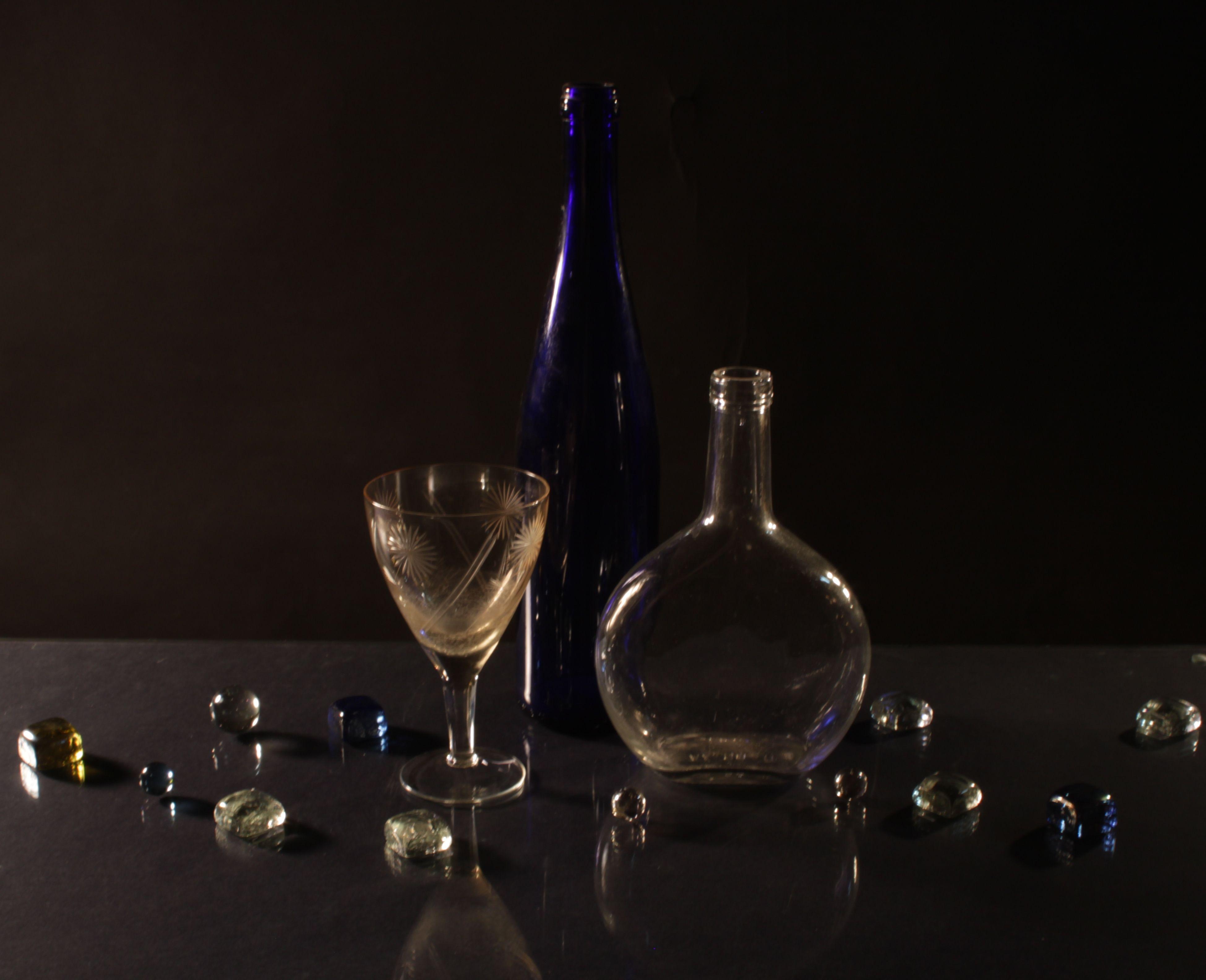 фотосъемка стеклянных предметов основы вязаных