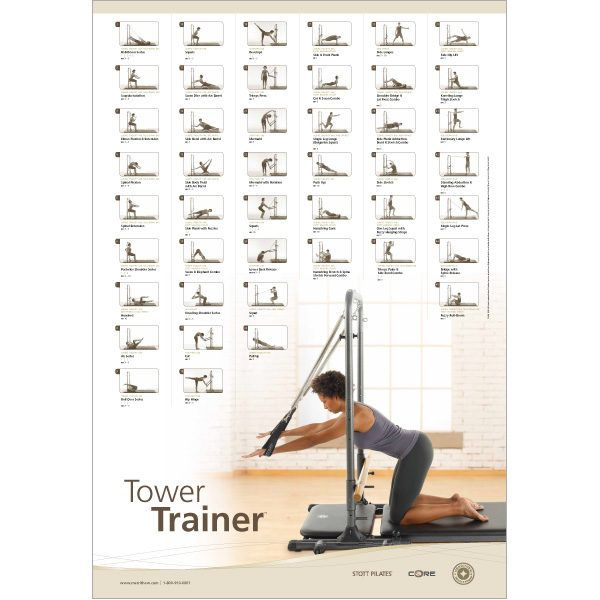 wall chart tower trainer pilates yoga pinterest yoga rh pinterest com AeroPilates Workout Chart AeroPilates Workout