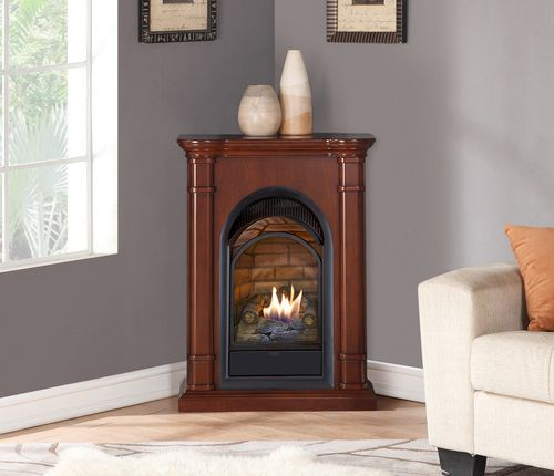 duluth forge dual fuel ventless fireplace with mantel 15 000 btu rh pinterest com