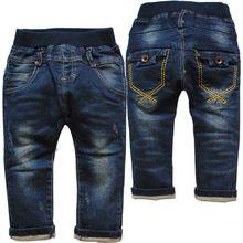 6c46f69b0 3802 menino suave jeans menina azul marinho bebê infantil primavera outono calças  calças do bebê jeans casual crianças(China (Mainland))