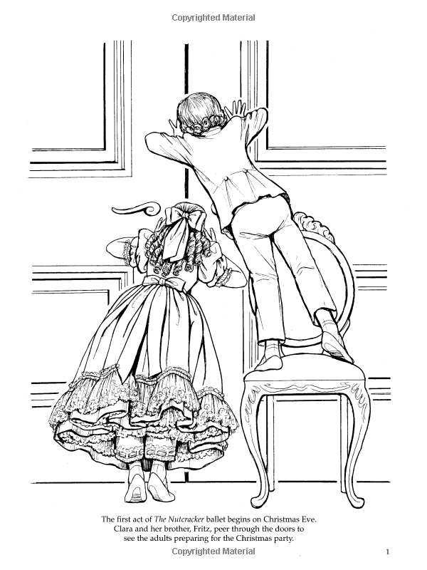 Nutcracker Ballet Coloring Book Dover Holiday Coloring Book