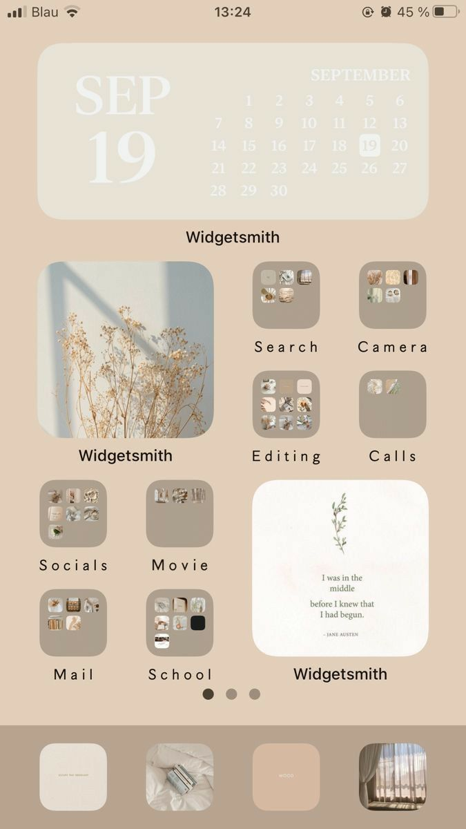 ios 14 aesthetic homescreen customization | iphone
