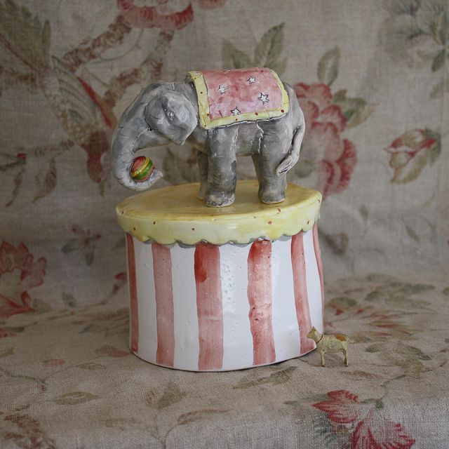 At the circus by Julie Whitmore Pottery, via Flickr