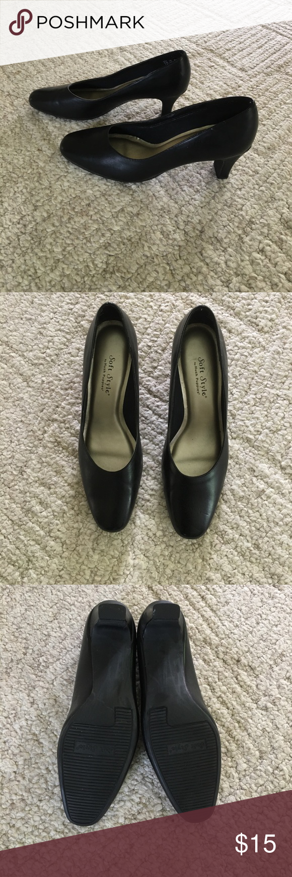 Hush Puppies Black Heels By Wolverine Made In Usa Heels Hush Puppies Shoes