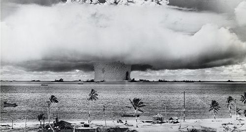 Crossroads Baker, 21 kilotons Bikini Atoll, July 24, 1946.