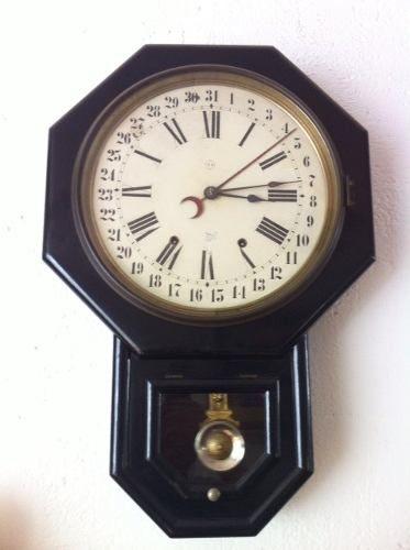 4c7e7441cc63 Reloj De Pared Clasico Seth Thomas