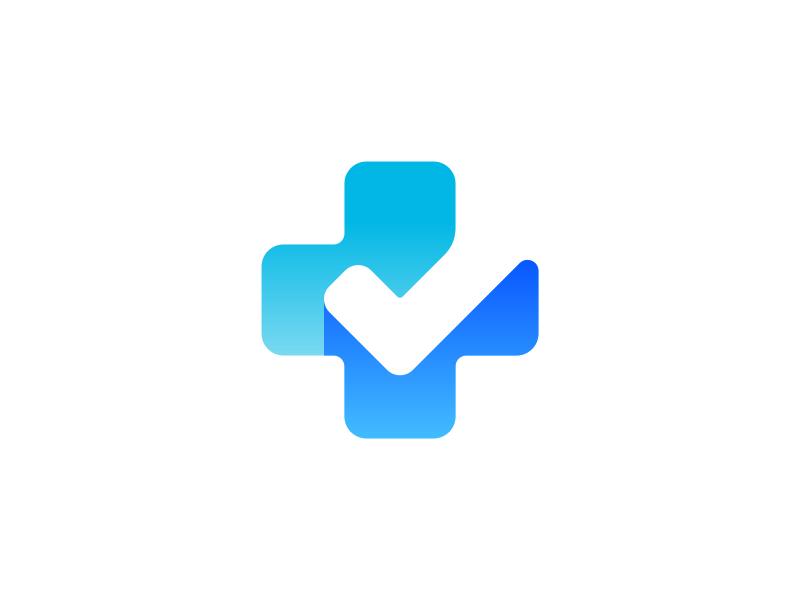 Plus Checkmark Logo Design Logo Design Health Hospital Logo Medical Logo Design