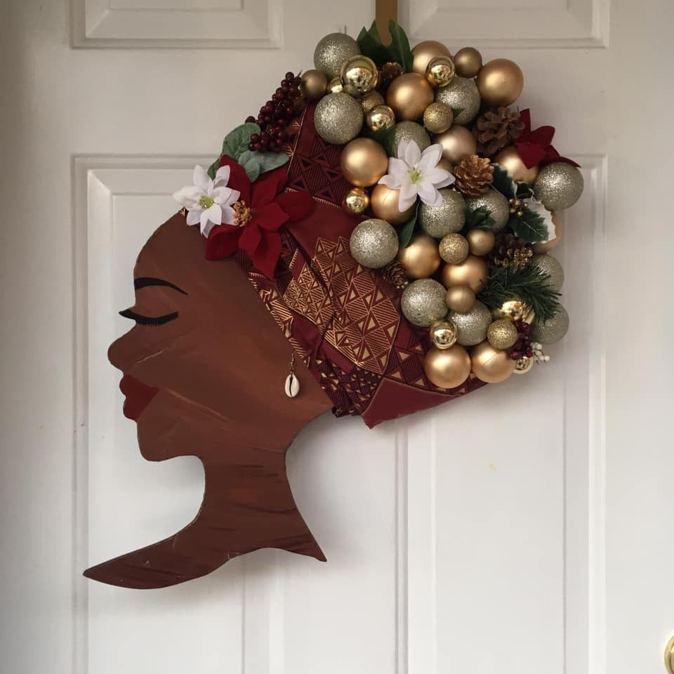 Afrocentric African American Christmas Door Decorations For Black Families Art Projec African Christmas Christmas Door Wreaths Christmas Door Decorations