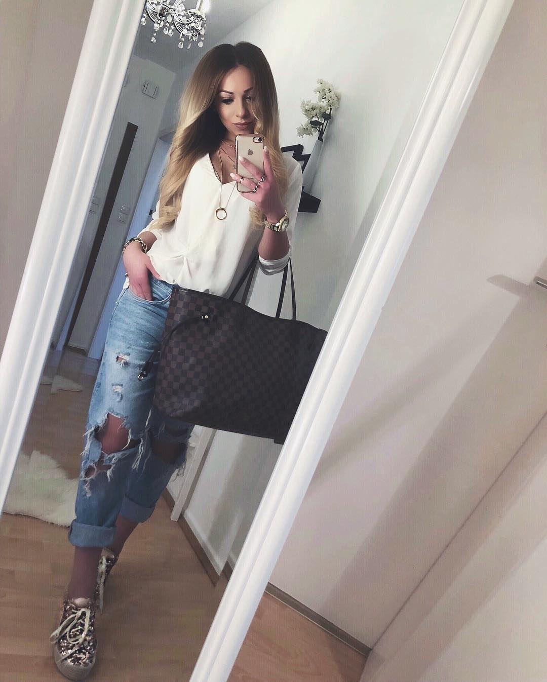 34 Coole und freche Boyfriend Jeans Ideen, die dazu