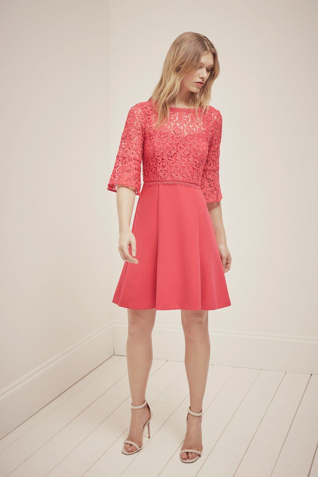 11542e68b901 whisper ruth lace fit and flare dress