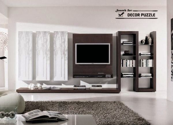 Living Room Wall Unit Designs, Wall Mounted TV Cabinets