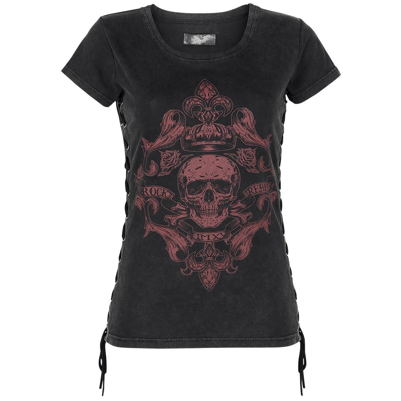Camiseta con Cordones - Camiseta por Rock Rebel by EMP
