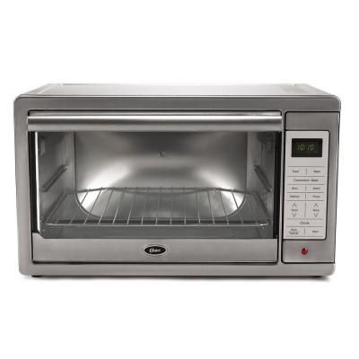 Oster 1500 W 4 Slice Brushed Stainless Programmable Toaster Oven