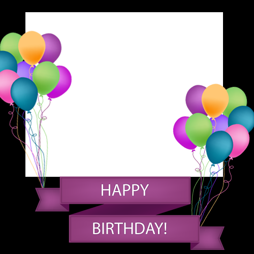 happy birthday frame png cerca con google