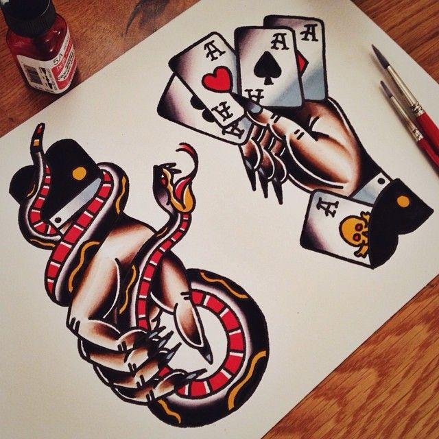 AJ Mills as featured on www.swallowsndaggers.com #tattoo #tattoos #flash