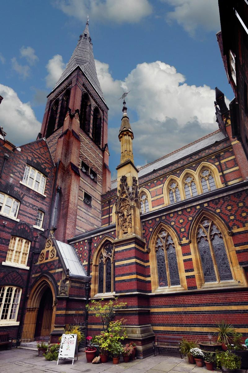 All Saints Margaret Street Courtyard Church Of England Is The Work Gothic Revival Architect William Butterfield