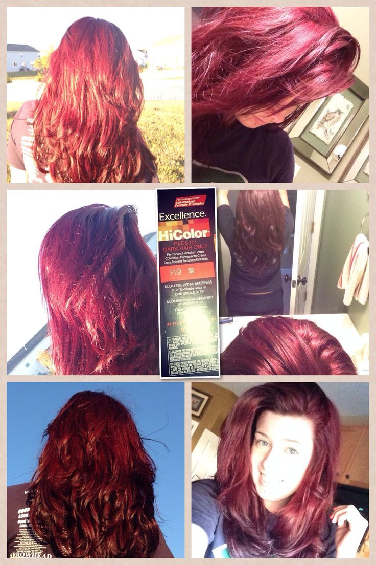 Excellence Hicolor Reds For Dark Hair Only H9 Hair Dye Haircolor