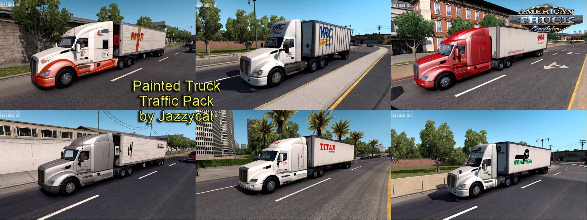 Download mod Painted Truck and Trailers Traffic Pack v1 6 by