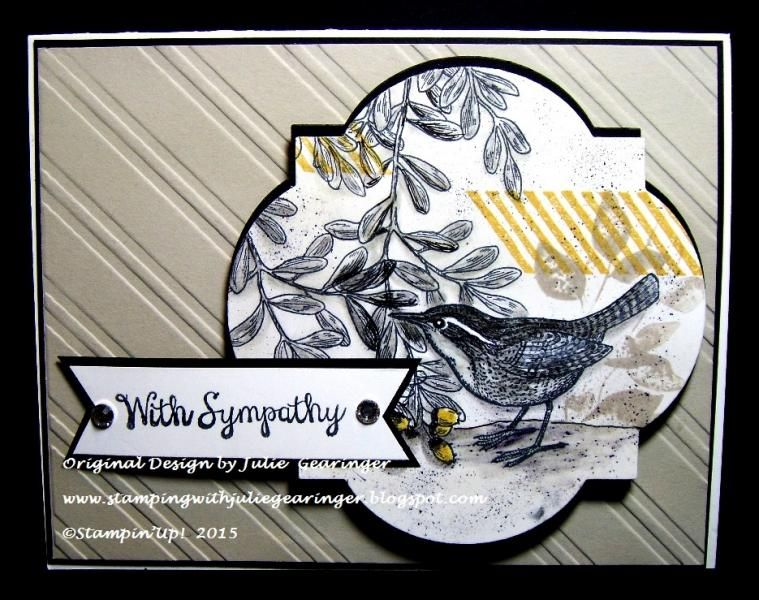 CAS Open Heart Sympathy by Julie Gearinger - Cards and Paper Crafts at Splitcoaststampers