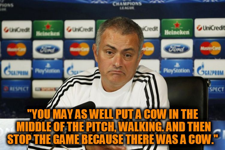 Mourinho On Time Wasting Brilliant Time Wasting Baseball Cards Mastercard
