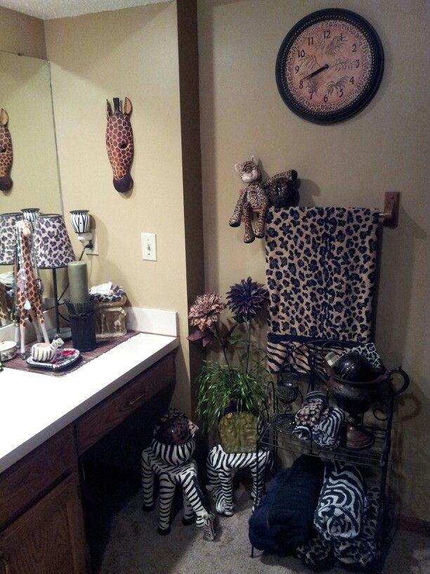 Safari Bathroom Wild Thing Decor Home Living Room