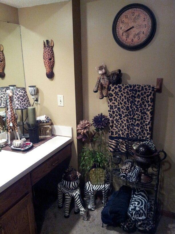 Safari Bathroom Wild Thing Pinterest Safari Bathroom Safari And Animal Print Bathroom