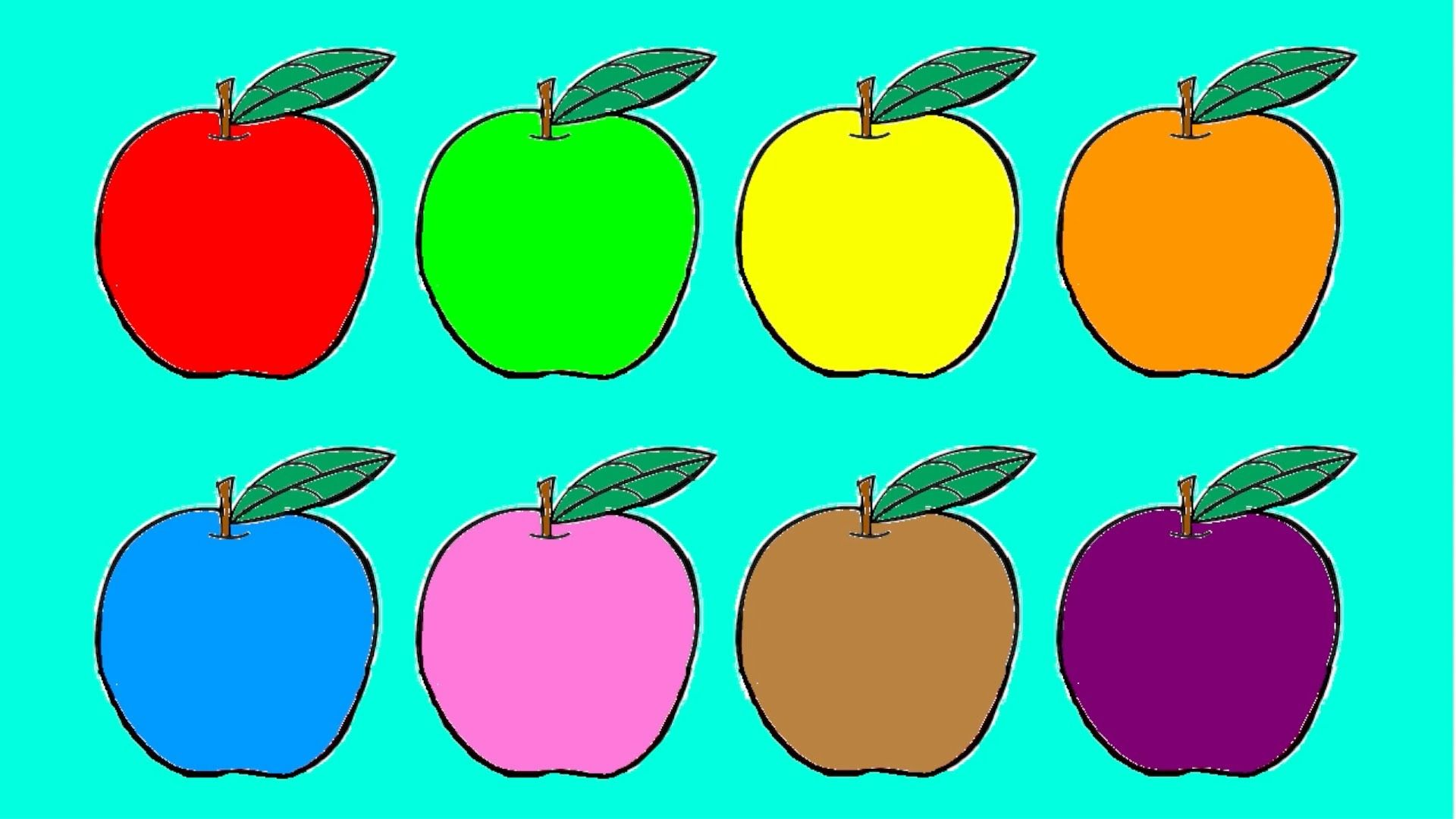 Learn Colours For Children Red Green Yellow Orange Blue