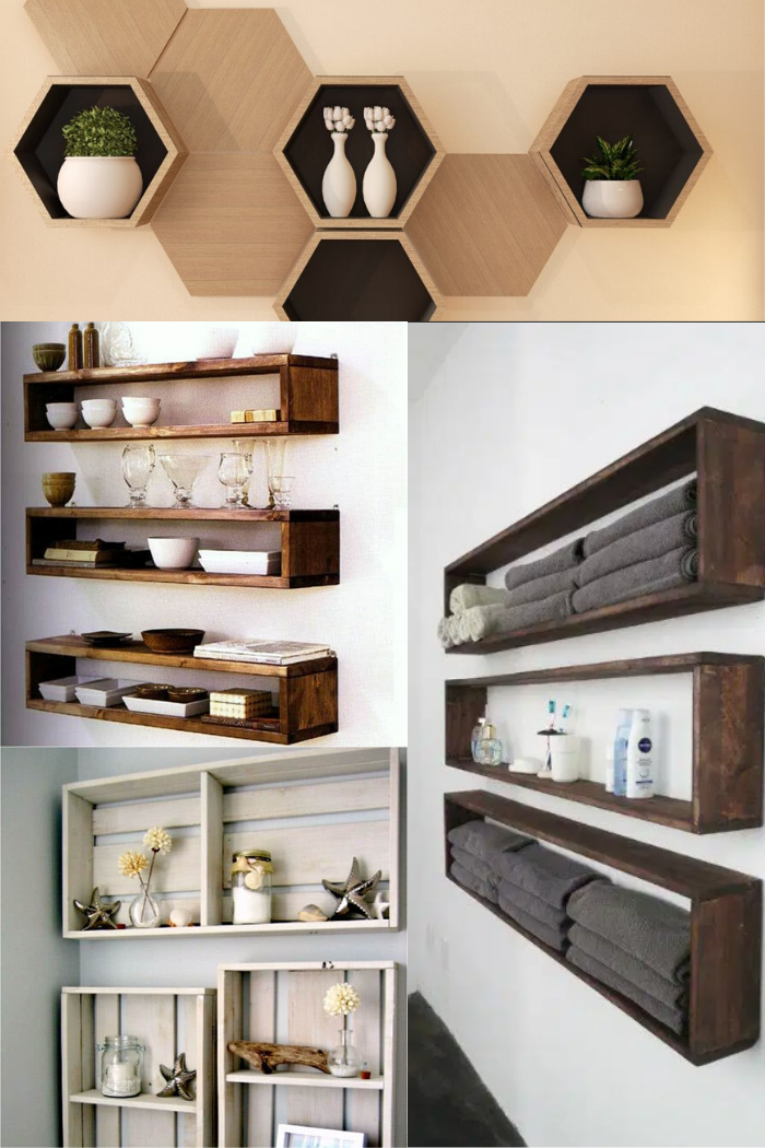 4 Easy To Follow Tutorials About Diy Floating Wall Shelves In 2020 Floating Wall Shelves Floating Wall Wall Shelves
