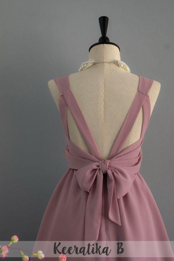 Neckholder kleid braun