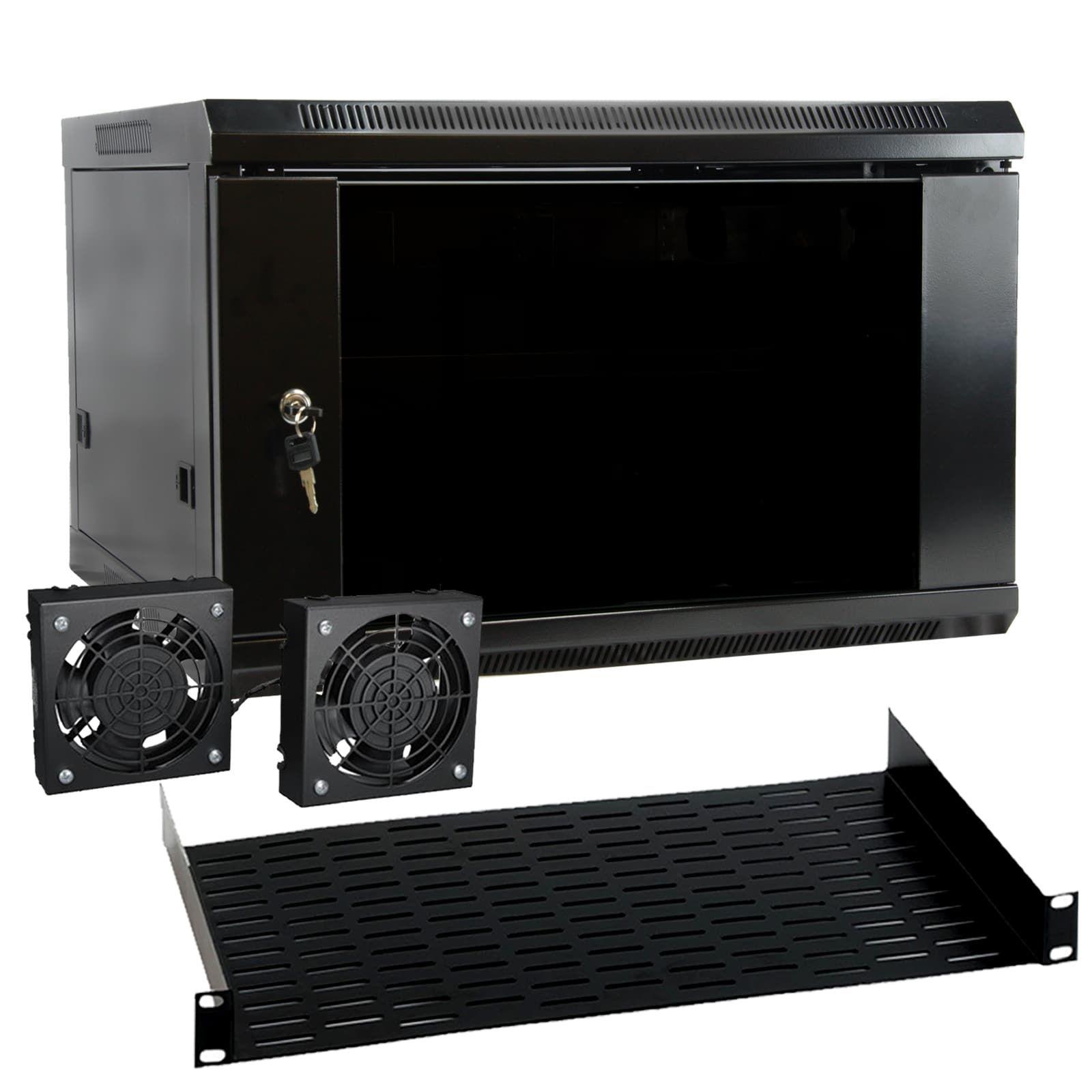 MegaMounts 6U Wall Mount Rack Enclosure Server Cabinet with Two
