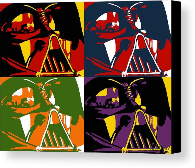 Pop art vader canvas print canvas art by dale loos jr