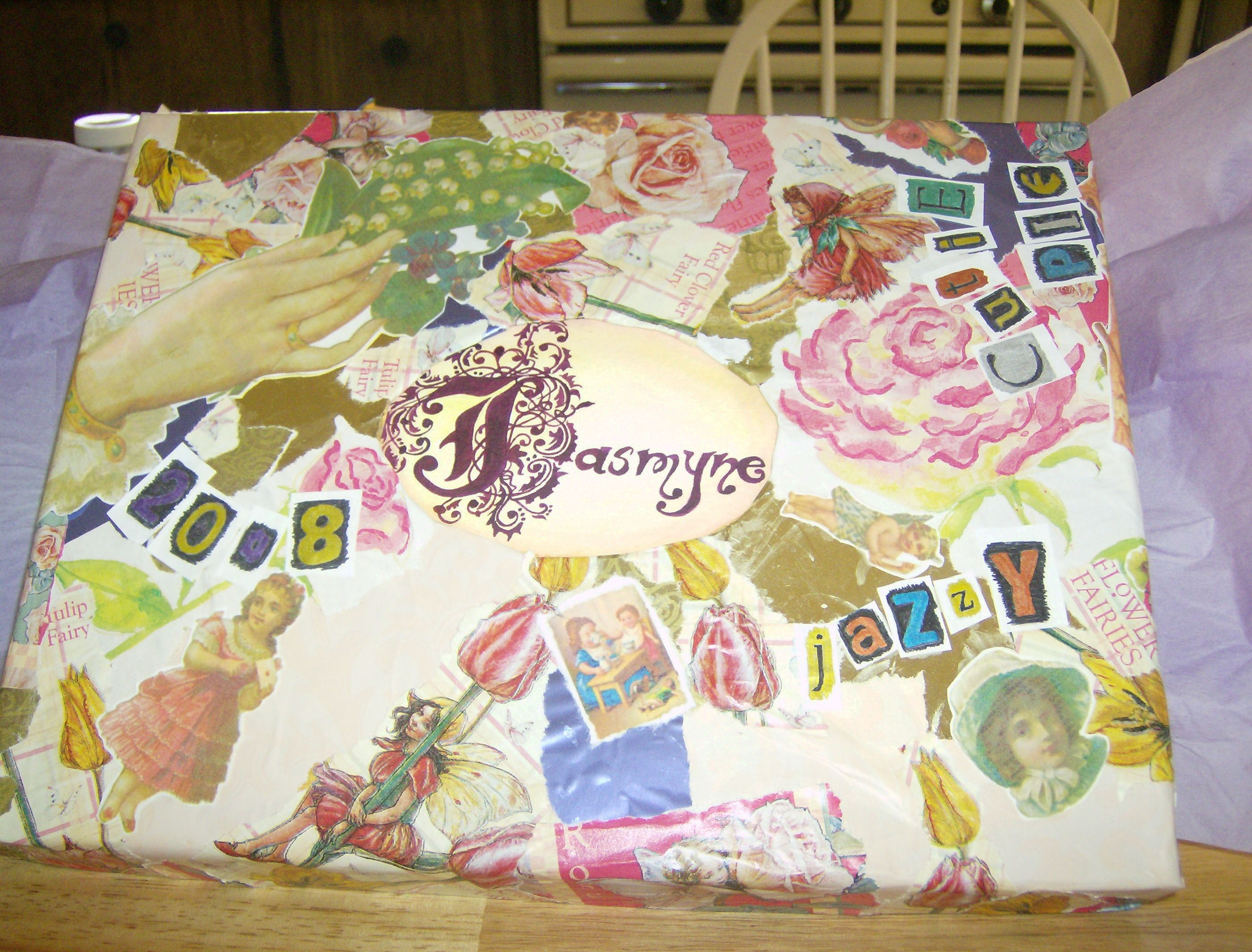 Jasmyne's collage box...a collage box fit for our granddaughter princess