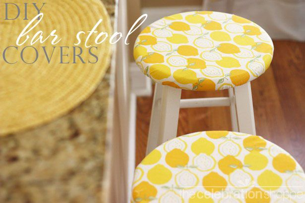 Chair And Stool Covers Folding Tables Chairs Bulk How To Make Super Easy Diy Bar Removable For Kitchen When I Finally Get Stools