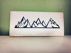 Mountains Wooden Sign Plaque Shabby Chic Art Present | eBay